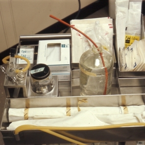 2016_107_005b Respiratory equipment in ICU, 1966