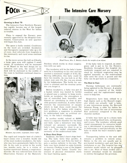 Children's Hospital Newsletter, Vol. 2, No. 4, May-June 1968. F2; S3.