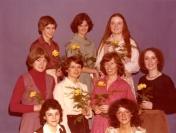 HSC2011/2 January 15 – March 23, 1979. Back row: Marlene Watson, Audrey Eccles, Lois Hawkins; Middle row: Monika Falkowski (A.H.N.), Sue Reid, Margaret Kelderman, Joanne Leeder; Front row: Diane Belec, Sandra Chilowski