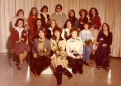 HSC2011/2 September 17 – November 23, 1979. Back row: Penny Triggs, Debra Halket, Sister Mary Carter, Doug Kinley (Instructor), Joan Mounteer, Irene Grexton, Tudy Smith; Middle row: Goverina Stoel, Fran Jean, Connie Magnusson, Bernadette Sawada, Nancy Ball, Marlene White; Seated: Sylvia Oosterveen, Cheryl Sokolosky (A.H.N), Cheryl (Farley) Orr.