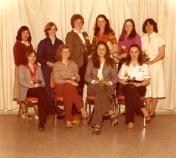 HSC 2011/2 January 21 – March 28, 1980. Back row: Marilyn Sam, Beverly Goodman, June Odlum, Denise Beaudry, Carol Wild, Jan Douglas; Front row: Debbie Follett, Laurie Lambertsen, Pamela Kowalchuk, Cathy McDonald