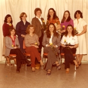 HSC 2011/2 January 21 – March 28, 1980. Back row: Marilyn Sam, Beverly Goodman, June Odlum, Denise Beaudry, Carol Wild, Jan Douglas; Front row: Debbie Follett, Laurie Lambertsen, Pamela Kowalchuk, Cathy McDonald