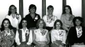 HSC2011/2 April 14 – June 13, 1980. Back row: Kristy Ross, Betty Klassen, Deanna Reid, Marta Crawford; Front row: Donna Martin, Denise Brown, Adeline Ryczkowski, Debbie Doig, Sheryl Sedun
