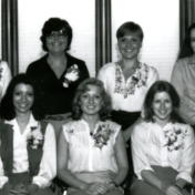HSC2011/2 April 14 – June 13, 1980. Back row: Kristy Ross, Betty Klassen, Deanna Reid, Marta Crawford; Front row: Donna Martin, Denise Brown, Adeline Ryczkowski, Debbie Doig, Sheryl Sedun