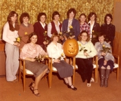 HSC 2011/2 September 15 – October 31, 1980. Back row: Carolyn Harden, Mary Leathley, Laurie (Berriault)Redford, Lesley Murray, Pat Larkin, Roberta Burgess, Karen Grouix, Karen McNeil; Front row: Cathy Hrycyk, Colleen Sinclair, Teresa O'Brien, Veronica Mariash