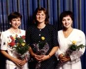 HSC2011/2 Class of August, 1990. Jocelyn Graham, Esther McGimpsey, and Nancy Ness.