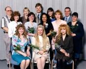 HSC 2011/2 Class of April 1996. Back row: Robert Barsi, Diane Rakar, Larry Ophey, Laura Walton, Jason English; Middle row: Dawn Zawadski, Elizabeth Farrelly, Rowena Juan, Sandra Kosowan, Cynthia Seitz; Front row: Jodi Walker, Shannon Loechner, Cori Boudreau.