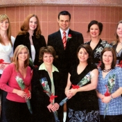 HSC2011/2 March 2007. Back row: Karlie Ross, Amanda Lucas, Mark Friesen, Jennifer Daman, Leigh-Ann Wesner; Front row: Karen MacDonald, Tracey Williams, Chantal-Marie Packulak, Donna-Rae Johnston; Absent: Amber Hemminger