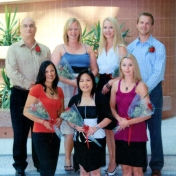 HSC2011/2 August 2008. Back row: Brian Goldstein, Cheryl Sutherland, Pamela Wiebe, Joel Nelson; Front row: Ruth Davies, Hazel Rona, Charlene Hyra