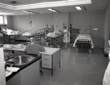 Head Nurse Jessie Simmie, the new Recovery Room on G7 in 1961.