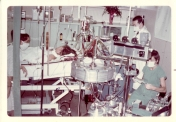 Heart-lung oxygenator, brought in from San Francisco to treat a 17 year-old girl who had fallen off of a hay ride. Staff from California also came with the machine as they were the only ones who knew how to use it. The machine was brought to Winnipeg General Hospital in