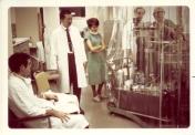 Heart-lung oxygenator, brought to Winnipeg General Hospital ICU in November 1969