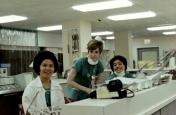 ICU student nurses at central nursing station, June 1969