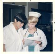 Two ICU nurses, July 1969.