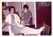 Hedie Epp and Pam Butler, ICU nurses. No date.
