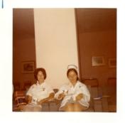 Judy Clark and Lucille Bourbeau. 1970.