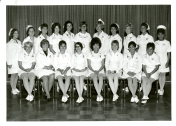 Intensive Care Nursing Course Graduates, 1970. Back row, left to right: S. Johnson, L. Bourbeau, H. Burchett, J. Clarke, C. Doern, V. Gembey, E. McGrath, N. Papineau, S. Buchanan, H. Epp, and B. McInnes; front row, left to right: V. Pedersen, N. Keeling, H. Hudson, S. Spilak, S. Lui, G. Gibney, A. Takchuk, and B. Ariss. Not pictured: D. McLaren, M. Johnson, G. Olson, C. Miller, R. Tayaban, P. Butler, R. Johnston, F. Chantler, P. Eiler, P. DeNeveu, M. Norton, M. Hill, J. Brewe, M. Bedard, L. Condon, J. Hartley, A. Houston, B. Chenevert, and R. Dwyer.