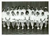 Intensive Care Nursing Course Graduates, 1970. Back row, left to right: S. Johnson, L. Bourbeau, H. Burchett, J. Clarke, C. Doern, V. Gembey, E. McGrath, N. Papineau, S. Buchanan, H. Epp, and B. McInnes; front row, left to right: V. Pedersen, N. Keeling, H. Hudson, S. Spilak, S. Lui, G. Gibney, A. Takchuk, and B. Ariss. Not pictured: D. McLaren, M. Johnson, G. Olson, C. Miller, R. Tayaban, P. Butler, R. Johnston, F. Chantler, P. Eiler, P. DeNeveu, M. Norton, M. Hill, J. Brewe, M. Bedard, L. Condon, J. Hartley, A. Houston, B. Chenevert, and R. Dwyer.
