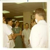 Staff in ICU, 1970
