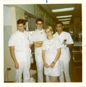ICU staff, 1970.