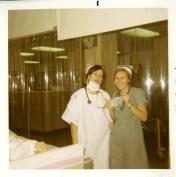 Two ICU nurses, 1970.