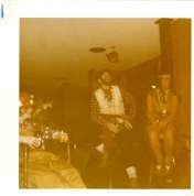 Costume party, Robert Hall and Hedie Epp. 1970