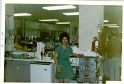ICU nurse with emergency cart, 1969
