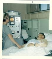 ICU nurse with patient, 1969