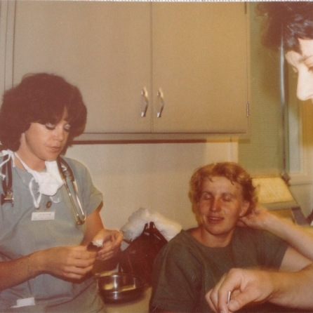 The nurse on the left is Judy Mucsh? Do not recall name of nurse in middle. Woman on right is housekeeper, great lady.