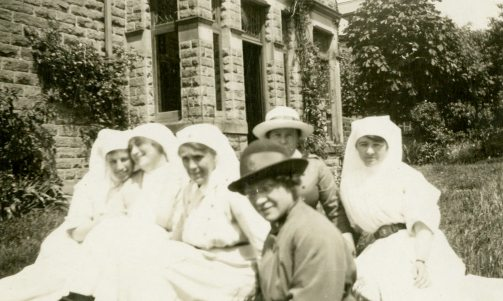 A group of [Nursing] Sisters at Bishop's Dale, Buxton, 1918, England