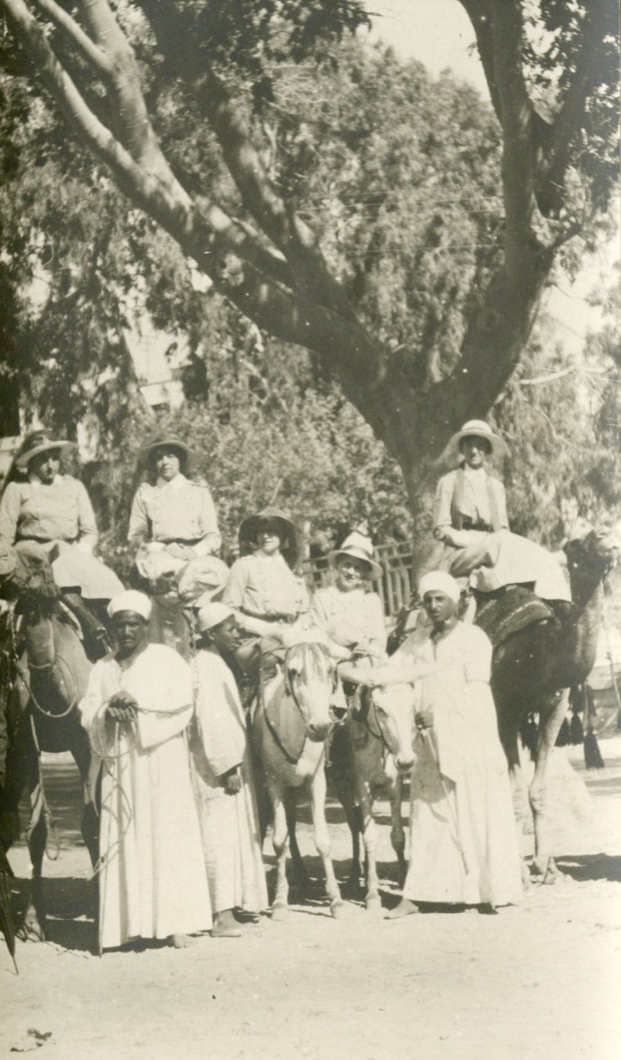 Our party in Cairo, May 1916. [Nursing sisters, including Alfreda Attrill] On special leave granted by Miss Drew.