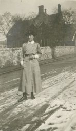 [Alfreda Attrill] Taken at Buxton February 1918, England