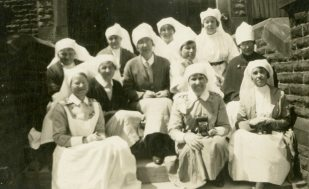Massage [Nursing] Sisters, Granville Special Hospital. Buxton, England [1918]