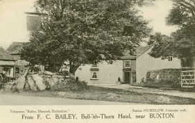"Bull-ith-Thorn Hotel, near Buxton - ""Capt. C. Patterson's party of 16 (class of August 1918). Nov. 16th., England"