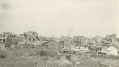 View of Albert. [Probably Albertville, France]