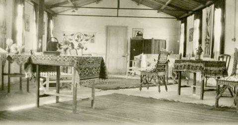 Sisters sitting room [Mess] #5 C.G.H. [Canadian General Hospital] Salonika 1917. Salonika/Thessaloniki, Macedonia