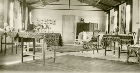 Sisters sitting room [Mess] #5 C.G.H. [Canadian General Hospital] Salonika 1917. Salonika/Thessaloniki, Macedonia