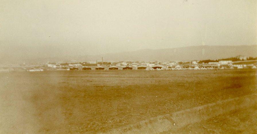 Looking toward Salonika over French Aerodomes from #5 Canadian General Hospital, Salonika/Thessaloniki, Macedonia