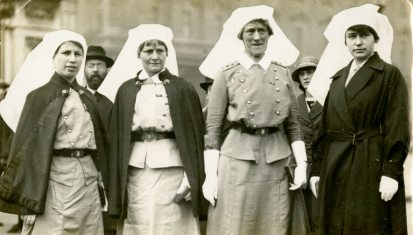 On way to Marlborough House for Tea [after Investiture at Buckingham Palace] 1918, England