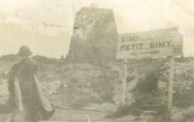 "Sign pointing to ""Petit Vimy"" France"