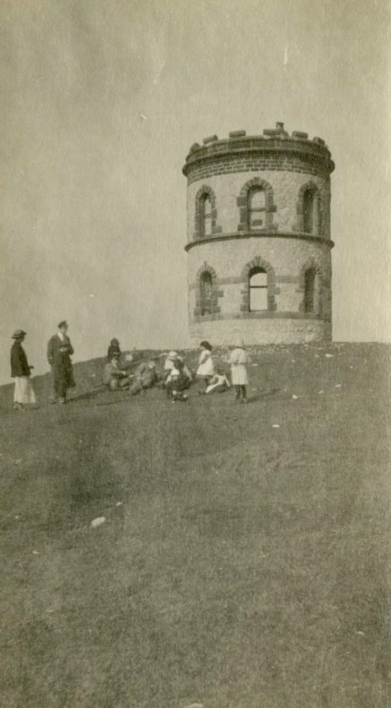 [Visiting] Solomon's Temple, Buxton, March 1918, England