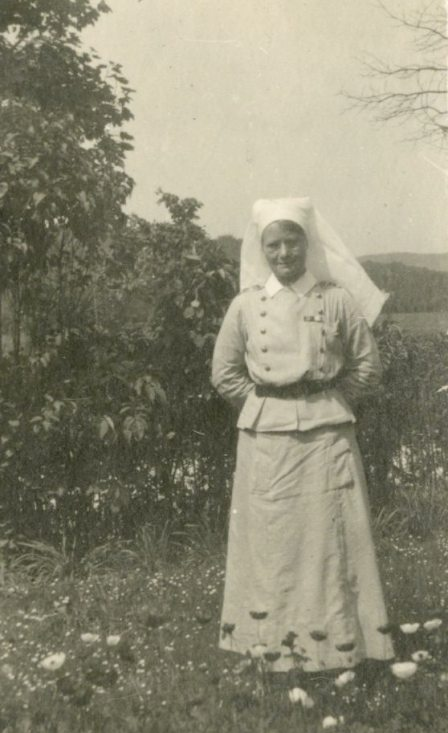 AJA [Alfreda Jenness Attrill] at Bishop's Dale, Buxton, England, 1919