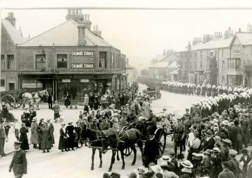Ada Janet Ross's funeral procession July 18, 1918