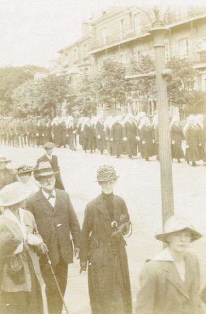 Funeral procession for Ada Ross, [July 1918]