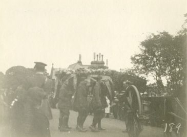 At the Gun Carriage leaving St. John's Church [Ada Ross funeral procession, July 18, 1918]