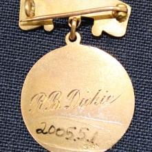 Ruby Dickie's Winnipeg General Hospital School of Nursing pin, 1916, verso.