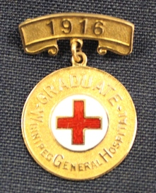 Ruby Dickie's Winnipeg General Hospital School of Nursing pin, 1916