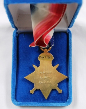 [1914-1915 Star awarded to Ada J. Ross - verso]