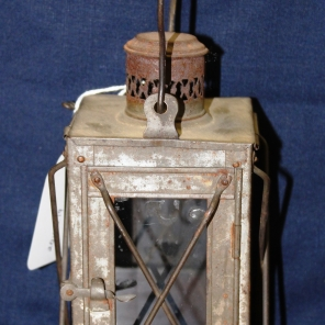 A.J. Ross N.S. No. 1 Canadian General Hospital Etaples, France 1915 This lantern used during World War I. All under canvas, except Operating Room (wooden hut). Each marquee has thirteen beds. Three sisters have six of these –seventy to ninety patients. From diary of A.J. Ross, N.S.