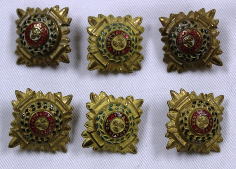 [CAMC epalaut buttons belonging to Margaret Grace McBean.]
